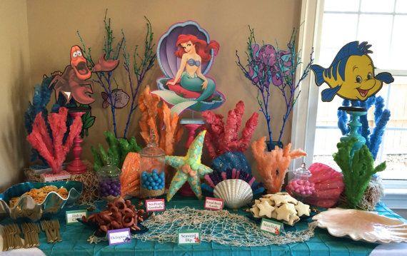 Disney Sirenita juego de 3 con Ariel Sebastián y Flounder