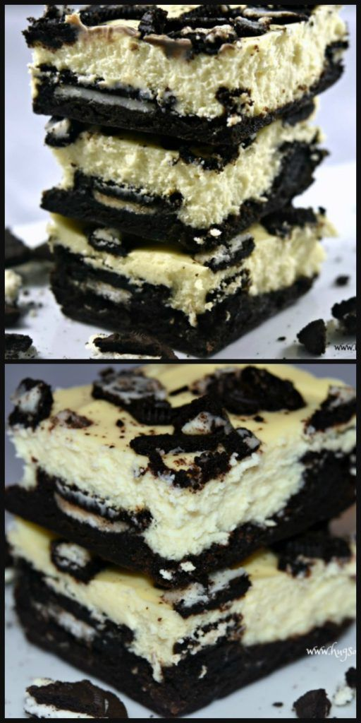 Oreo Cheesecake Brownies - Hugs and Cookies XOXO