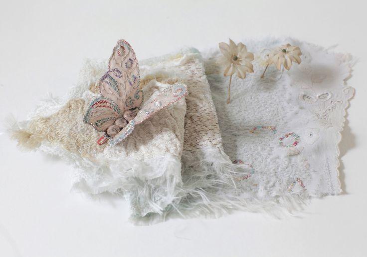 """Dreamgarden""  Embroidery on silk by Marijke Leertouwer Photo Karin den Boer"
