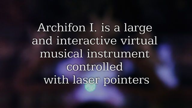 Archifon I. - Interactive Installation by the macula. www.archifon.org