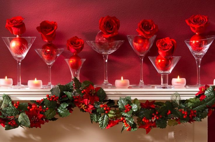 Karácsonyi kandallópárkány dekoráció