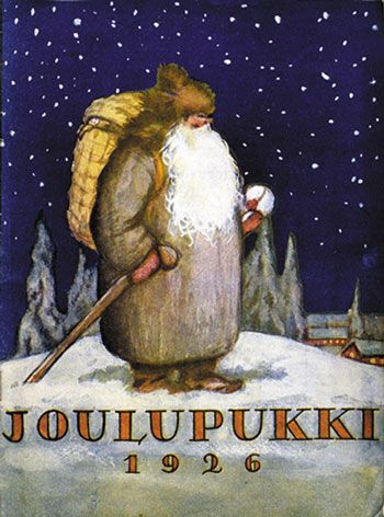 Joulupukki is a Finnish Christmas figure - today 'Santa'. The name Joulupukki literally means Yule Goat.