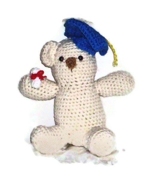 Amigurumi Graduation Bear Class Of 2013 by amydscrochet on Etsy