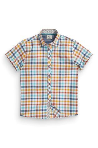 Buy Multi Gingham Short Sleeve Shirt (3-16yrs) from the Next UK online shop