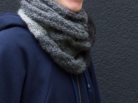 Tutoriale DIY: Cómo tejer una bufanda de hombre vía DaWanda.com
