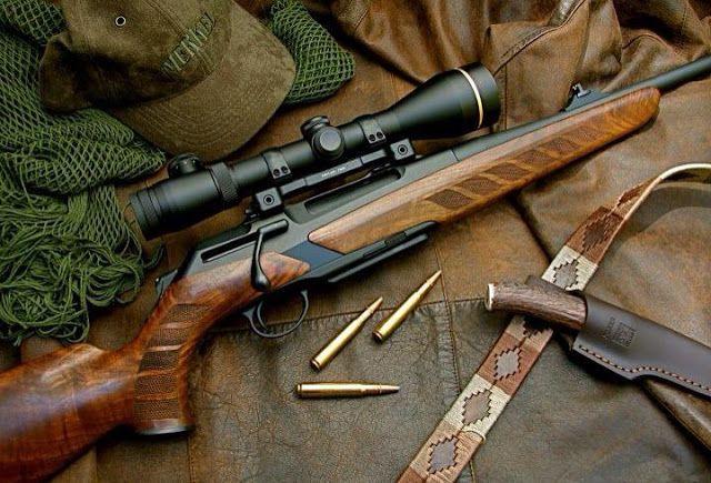 Blazer rifle. A good looking, practical, big game rifle.