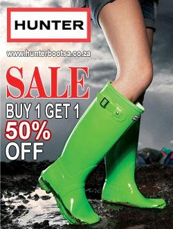 Hunter Boots sale – buy 1 get 50% off your next pair