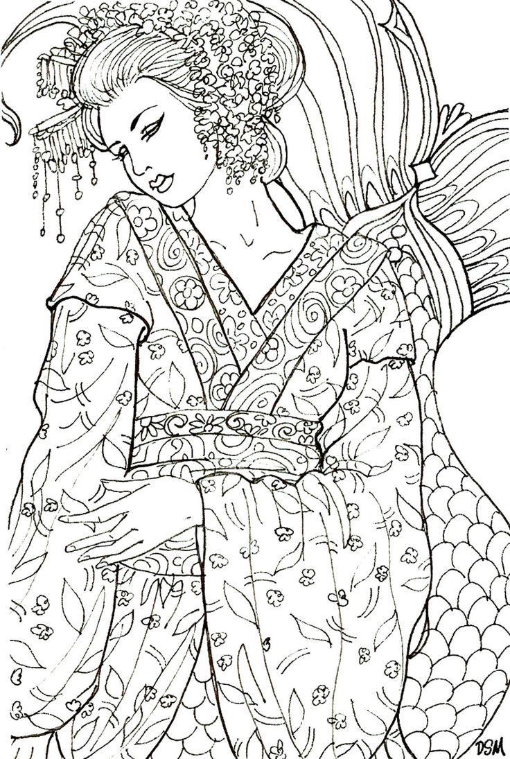Coloring pages yokai - Find This Pin And More On Asian Colouring Pages