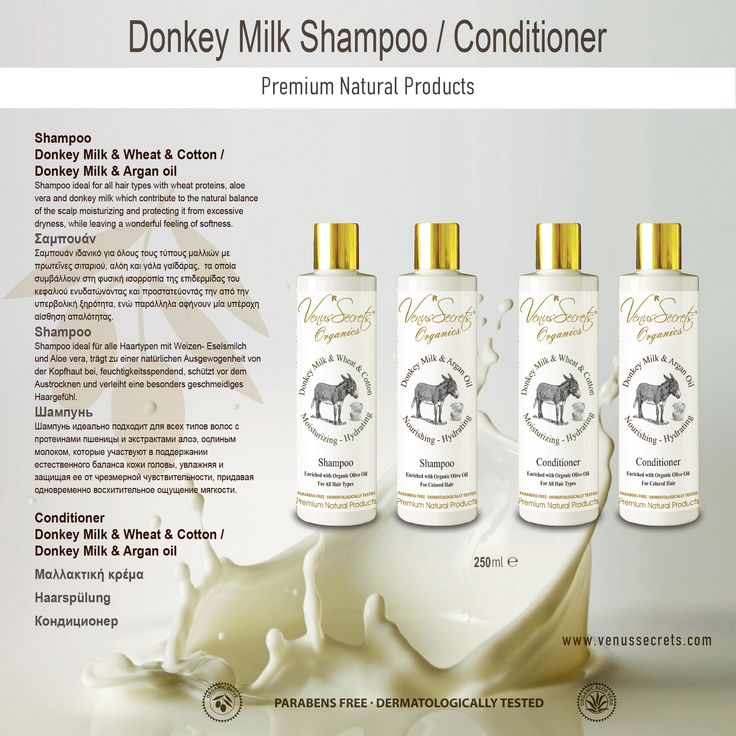 Donkey Milk Shampoo - Conditioner 250ml