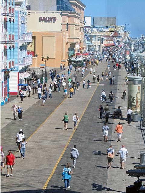 The boardwalk in Atlantic City