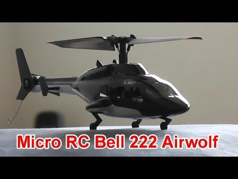 Micro RC Bell 222 Airwolf Helicopter Indoor Flight