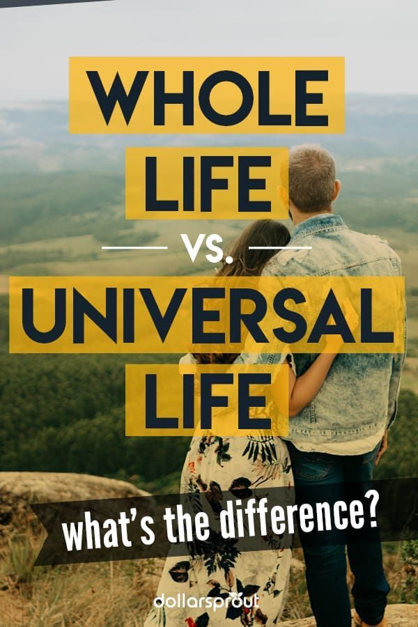 Whole Life Vs Universal Life A Side By Side Comparison Whole Life Insurance Universal Life Insurance Term Life