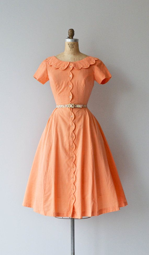 Ice Cream Social dress vintage 1950s dress cotton by DearGolden