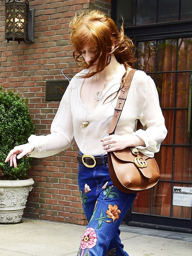cbcb0b93e016 We Want to Wear Florence Welch's Patchwork Pants All Spring | Gucci  animalier