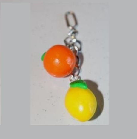 Pendentif agrumes, orange-citron kit-ludi : Pendentif par ludifimo