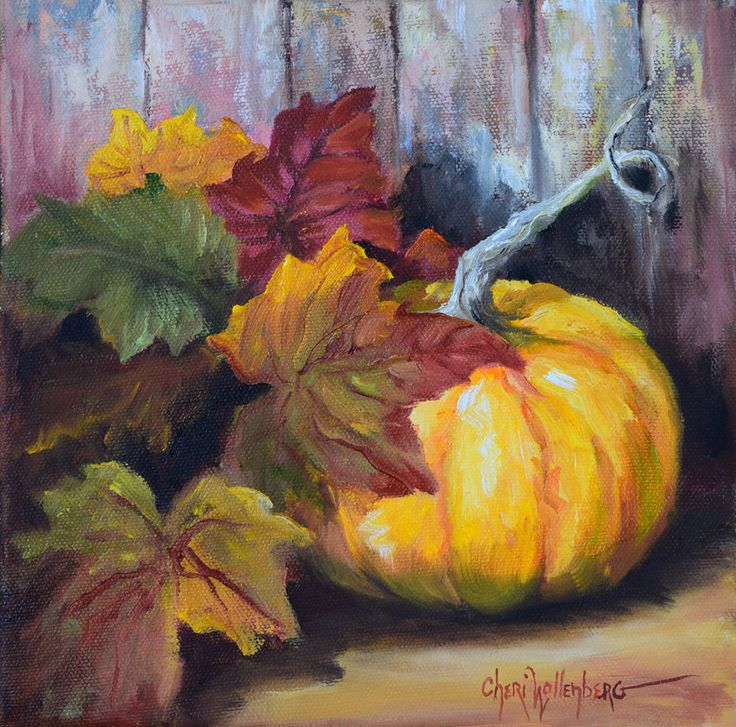 Still Life Oil Painting, Autumn Still Life IV, Original Painting by Cheri Wollenberg by OilPaintingsByCheri on Etsy