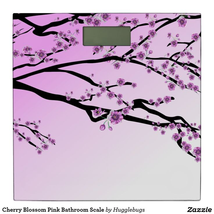 Cherry Blossom Pink Bathroom Scale