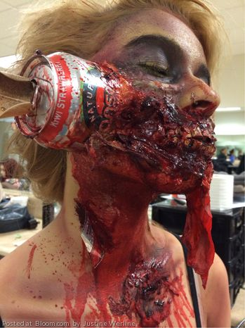 Zombie Makeup - i wish i was this brave !