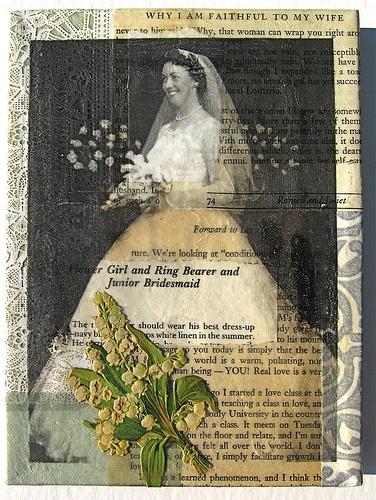 wedding collage mixed media