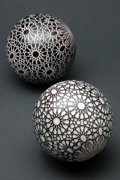 Mark Matthews glass marbles.