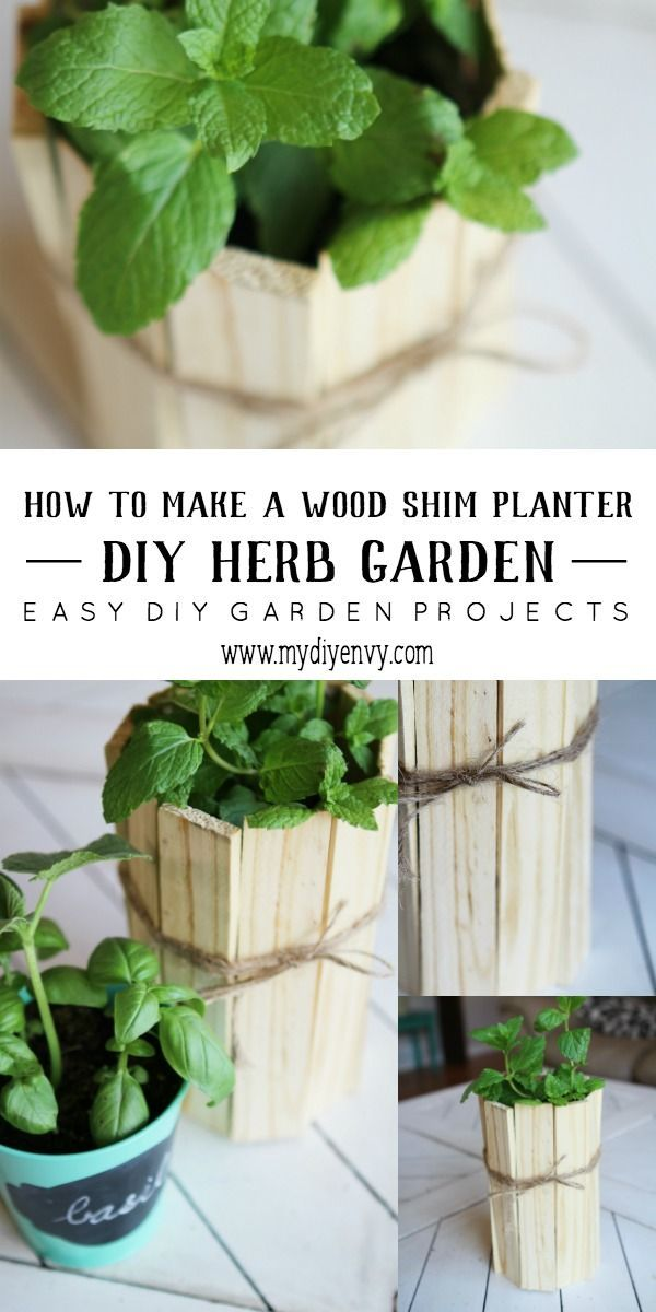 diy herb garden planter tutorial this wood shim planter is easy to make and can
