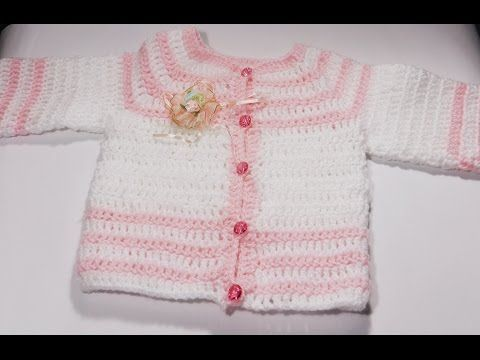 how can i make crochet baby sweater / jacket for 1 or 2 years girl's languish nepali - YouTube