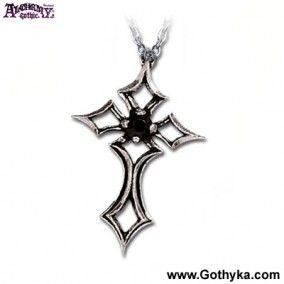 pendentif alchemy gothic st lorenz kreuz - Boutique Gothique Romantique Gothyka