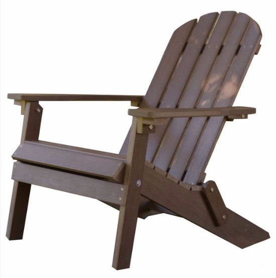 Adirondack Chair-Chocolate Brown Recycle Plastic Resin