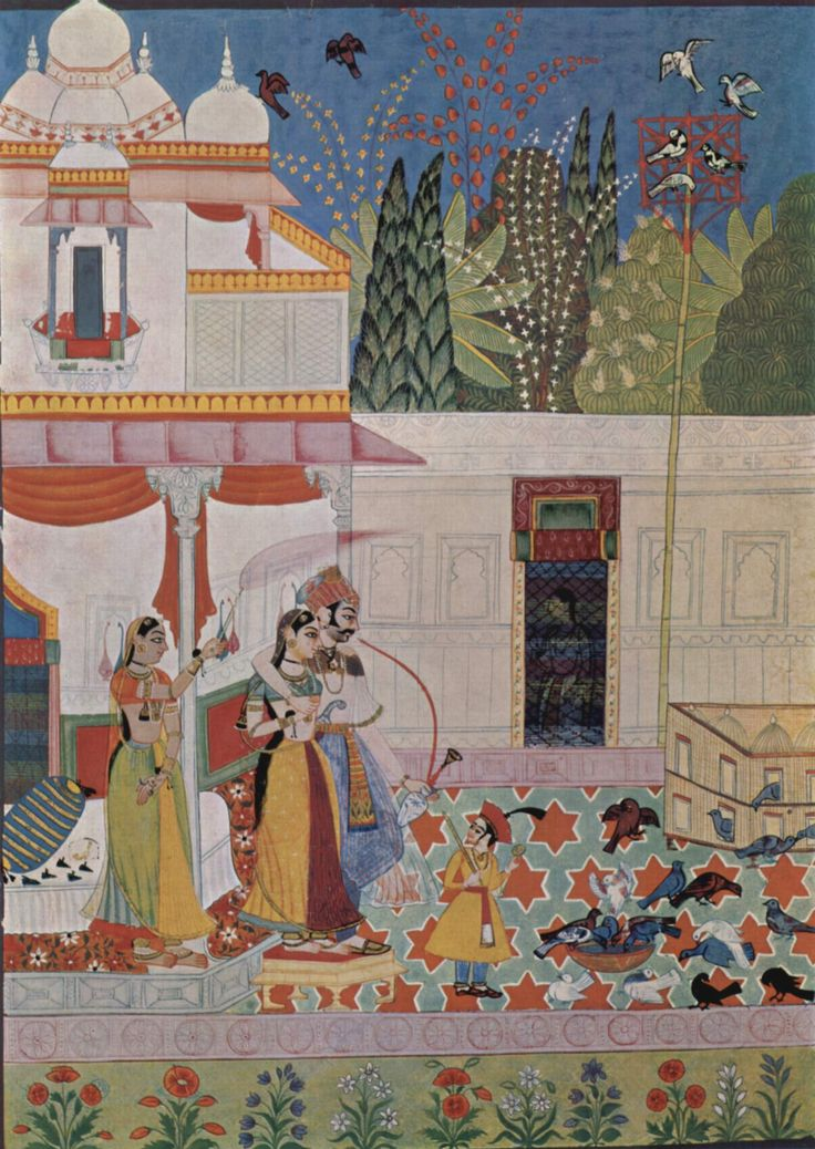 Indian miniature painting, love love love