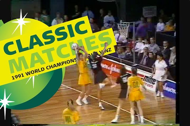#classicmatches moment no.1 - 1991 World Netball Championship final between Australia and New Zealand. Can you name the famous Australian politician filmed in the second half of the match?