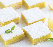 Recette des Carrés sablés au citron ou lemon squares