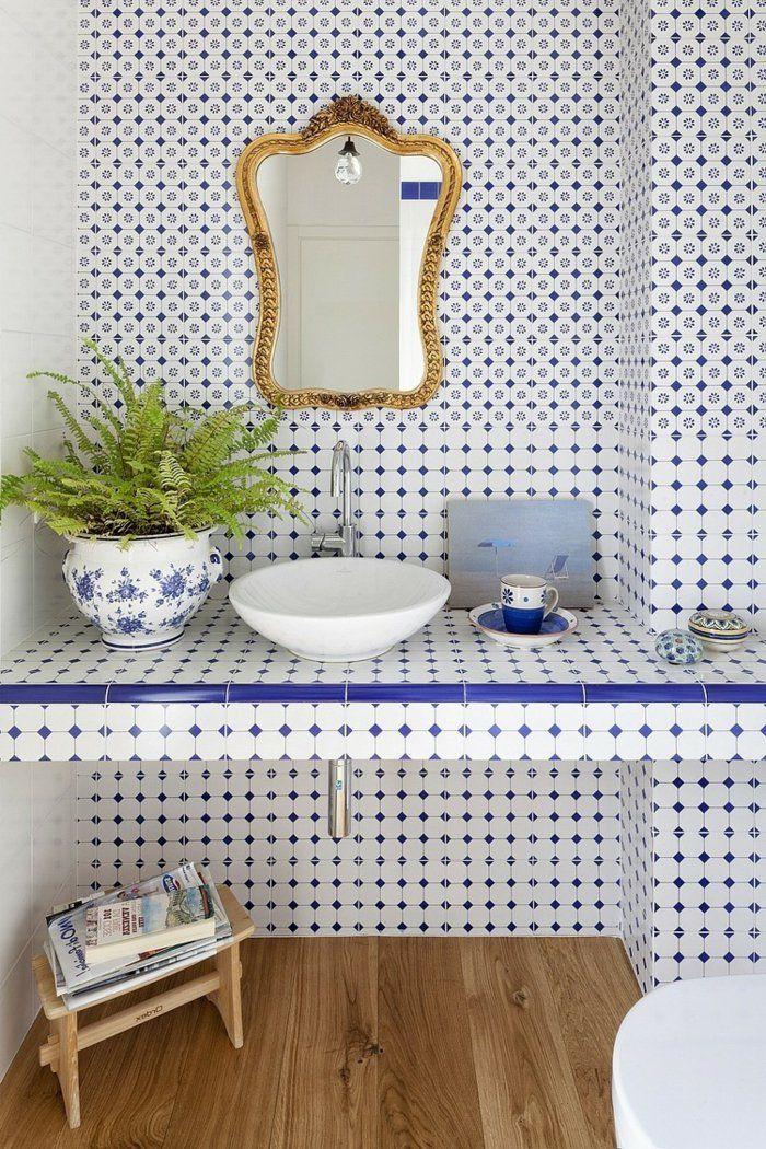 wandgestaltung bad 35 ideen fr badezimmergestaltung mit fliesen - Wandgestaltung Bad