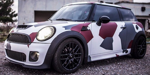 mini cooper s works matt camouflage mini pinterest. Black Bedroom Furniture Sets. Home Design Ideas