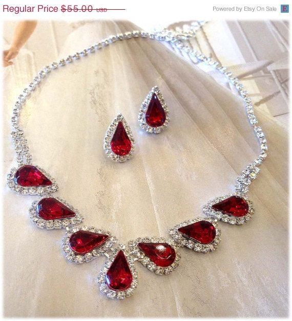 For my bridesmaids Wedding jewelry set bridesmaid jewelry set Bridal by GlamDuchess, $38.50