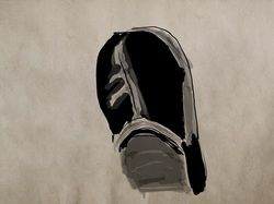 """I am back into daily practice. This quick sketch was done during an ad break at night watching tv. I was looking down at my foot and thought """"I can do that"""". So here you get to see my daggy slipper, (you lucky people). Zen Brush is a great app to use for a quick study. One brush with adjustable size and 3 shades of grey, but what more do you need for a quick sketch?"""