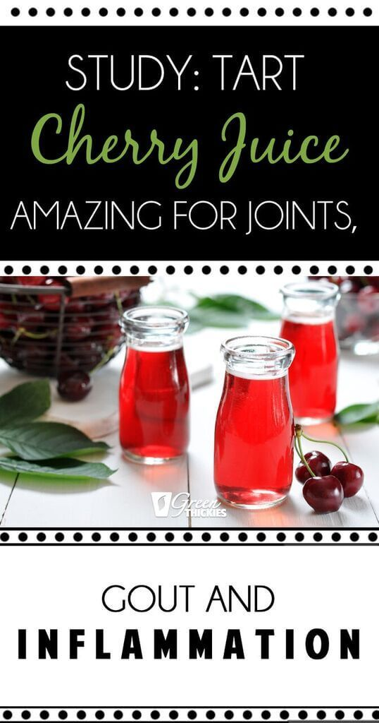 Study: Tart Cherry Juice Amazing For Joints, Gout And Inflammation