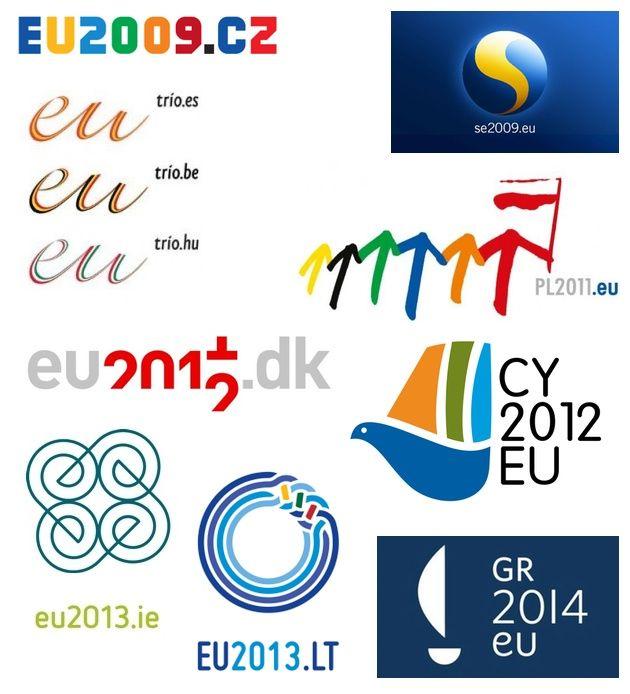 EU presidency logos (by Jon Worth)