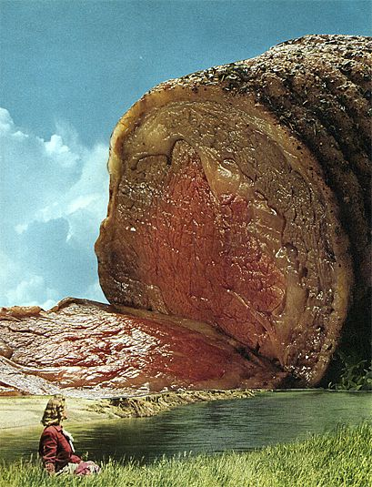 Nicolas Lampert - collage from his Meatscape Series http://machineanimalcollages.com/