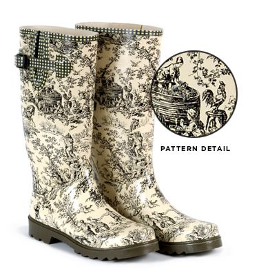 toile wellies.