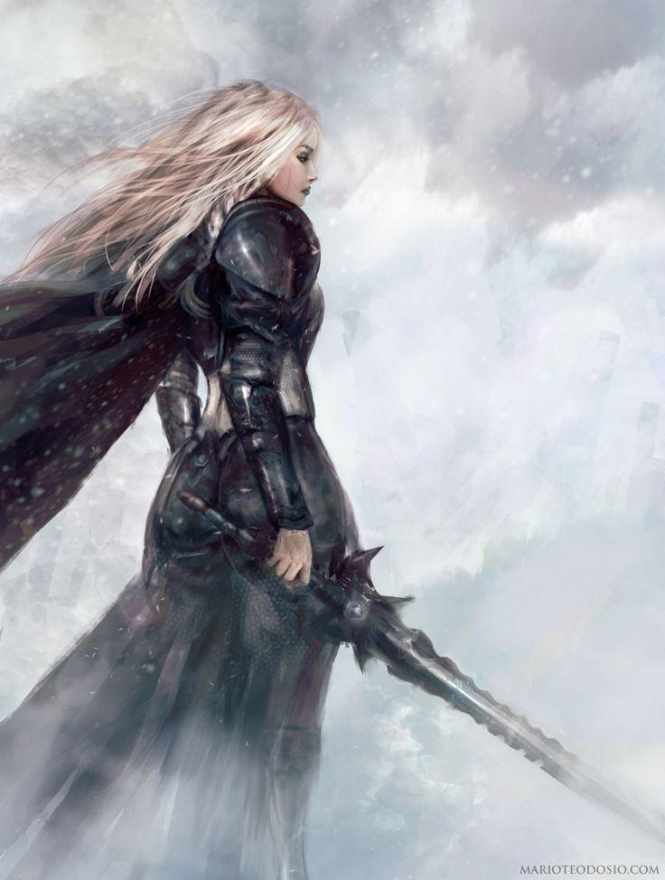 E'Sara gérante des conflits politiques entre les elfes Noires et les elfes Blancs