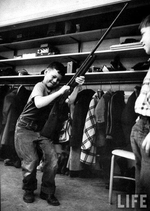 Gun safety class at an Indiana school, 1956.