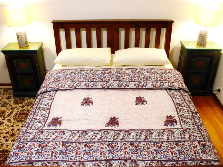 Our premium lavender and red rajai is handmade in Jaipur and each unique quilt in our Premium Collection is priced at AUD$149.95 in Australia
