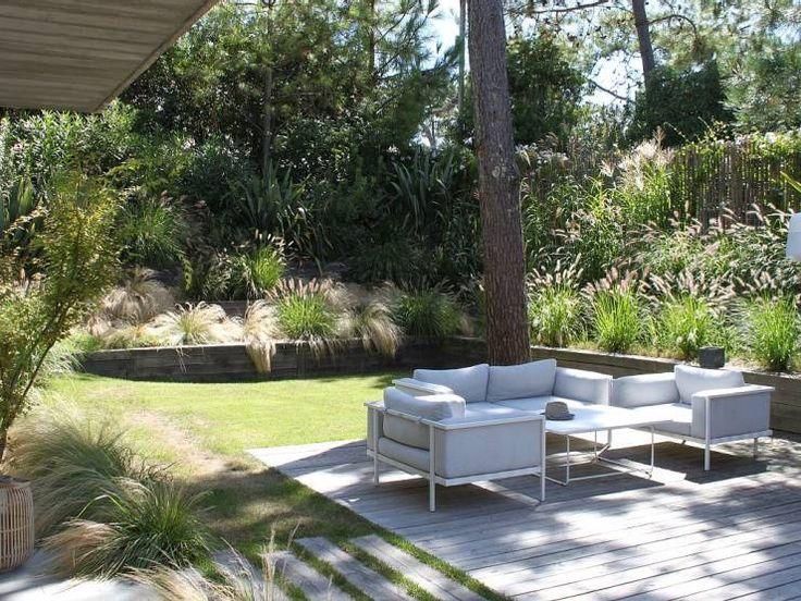 Aménagement d'un jardin de particulier au Cap Ferret: Jardin de style Moderne par NL-PAYSAGE- PAYSAGISTE DPLG