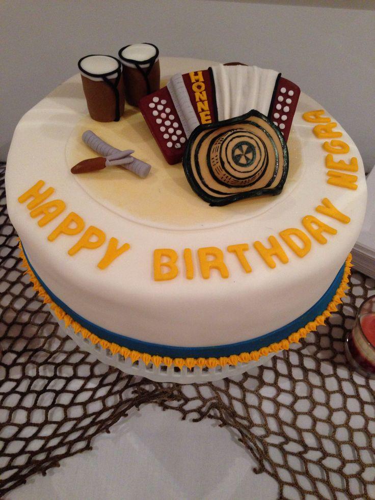 Torta para fiesta vallenata.