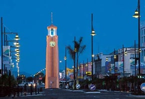 Our Town Clock in the main Street of Gisborne City, New Zealand