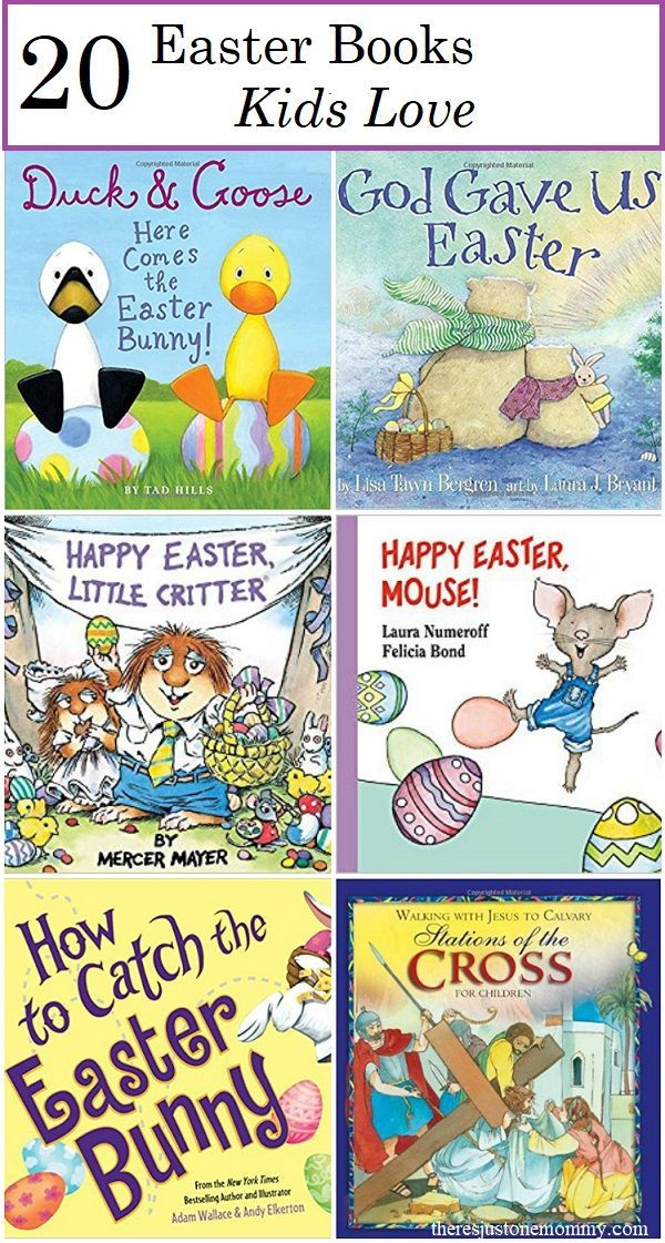 kids Easter books: fun toddler and preschool Easter books as well as Easter books for elementary kids    #Easter #kidslit