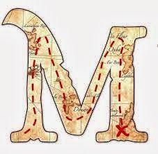 Letras sueltas caracterizadas con el tema de piratas y marinero. | Oh my Alfabetos!