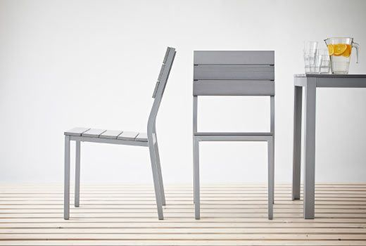 'Falster' outdoor table and chairs, aluminium/polystyrene: Ikea