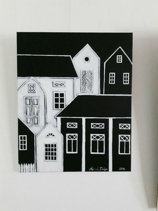 Acrylic painting by Hammi´s Design. Blackandwhite <3