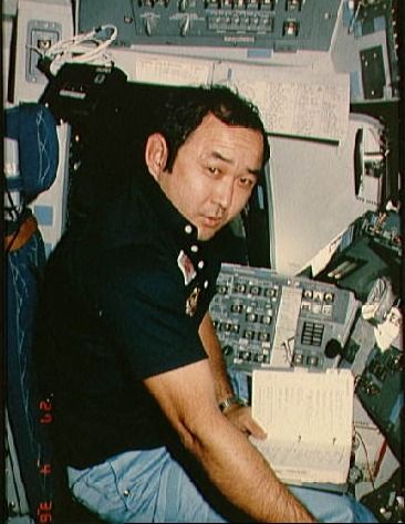 Ellison Onizuka, Hawaiian native, astronaut, first Asian American in space, and Challenger hero, reads.